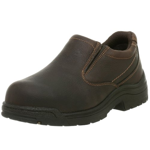 Timberland PRO Men's 53534 Titan Safety-Toe Slip-On,Camel Brown,11 M