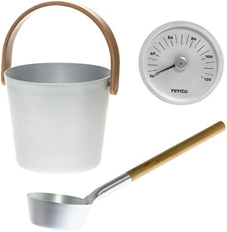 climat couteau Aluminium Sauna thermomètre rento Tammer tukku Black//Noir