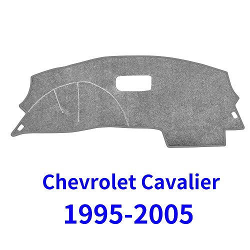 - JIAKANUO Auto Car Dashboard Carpet Dash Board Cover Mat Fit for Chevrolet Cavalier 1995-2005 (Grey)(MR-046)