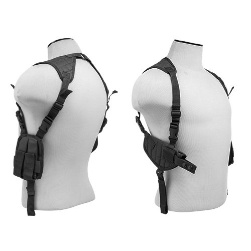 - M1SURPLUS Black Adjustable Ambidextrous Shoulder Holster with Mag Pouches fits Hk VP9 VP40 P2000 P30 Full Size Pistols