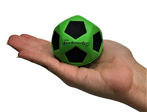 Flash Bouncing Ball (Jack Attack New KOO KOO High Bounce Ball 2.5 in High Skills Training This Ball Helps Develop Some Serious Hand to Eye Coordination Best For Training Field Park Back Yard Agility Ball Bulk (Green))