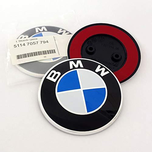 Emblem f/ür BM W 82mm E81 E87 E87LCI F07 F07GT LCI F10 F11 F13 E63 E64 F06
