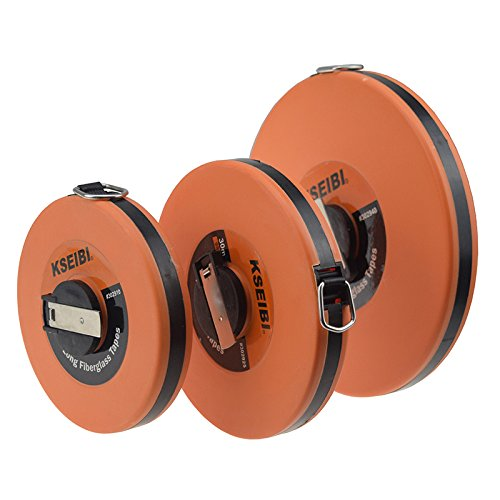 KSEIBI 302940 Long Fiberglass Tape Measure Double Face Printing Inch/Metric for Construction Work (150ft/50m) by KSEIBI (Image #6)
