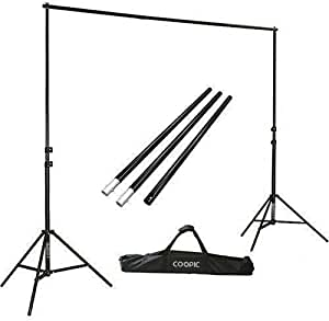 2x2m Background Stand with 1.5x3m 3 Backdrops Green White Black Lighting Photography Kit