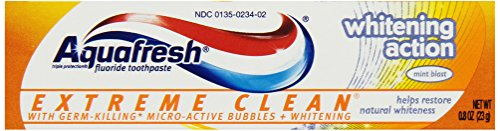 Aquafresh Extreme Clean Whitening Mint Experience Toothpaste, Trial Size (Pack of 36) by Aquafresh