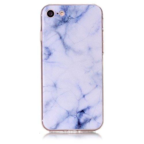 "iPhone 7 Hülle , Leiai Mode Marmor Tasche Schutzhülle Silikon Handyhülle Stoßdämpfende Schale Case Shell für Apple iPhone 7 4.7"""
