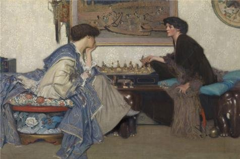 The Perfect Effect Canvas Of Oil Painting 'Emile Vloors - The Chess Game' ,size: 20x30 Inch / 51x77 Cm ,this Imitations Art DecorativePrints On Canvas Is Fit For Garage Decor And Home Gallery Art And Gifts