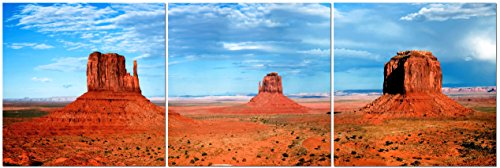 Canvas Wall Art Decor - 24x24 3 Piece Set  - Utah Desert Lan