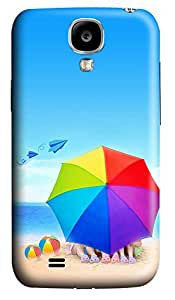 Samsung Galaxy S4 I9500 Cases & Covers - Beach Umbrellas And Paper Airplane Custom PC Soft Case Cover Protector for Samsung Galaxy S4 I9500