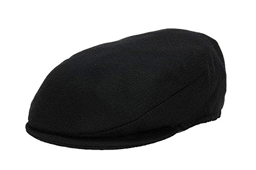 Hanna Hats Men's Donegal Tweed Vintage Cap Black Wool - In Tweed Men