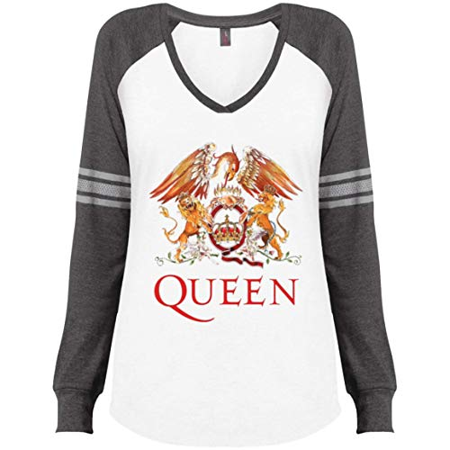Queen Women's District Made Ladies' Game LS V-Neck T-Shirt ()