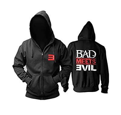 Lorraine-store Eminem Cotton Coat Hip Hop Hoodies Bad Meets Evil