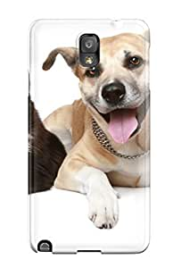 Rugged Skin Case Cover For Galaxy Note 3- Eco-friendly Packaging(cat And Dog ) by icecream design