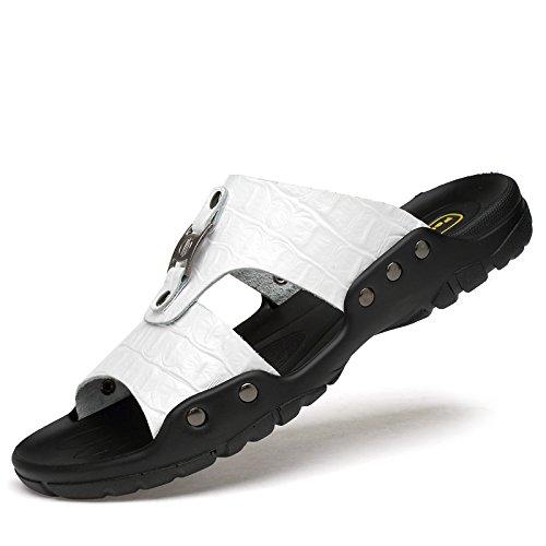 Xing Lin Sandalias De Hombre Zapatillas De Gran Tamaño 50 Hombres De Verano Al Aire Libre, Además De Fertilizante 47 Flip Flops Zapatillas Blancas 48 45 49 Inicio Xl 46 white