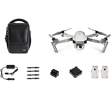 DJI Mavic PRO Fly More Drone Quadcopter Combo, Platinum Version (CP.PT.00000069.01)