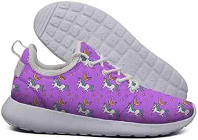 a0233f5b4a6d Pink Unicorn mom Nana Purple White Plimsolls for Women Cool Breathable and  Lightweight Lace-Up