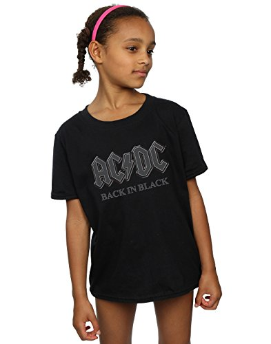 Price comparison product image AC/DC Girls Back in Black T-Shirt 9-11 Years Black