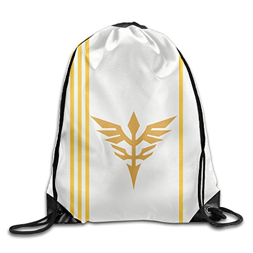 EUNICORN SG Neo Zeon Gundam Logo Snapback Gym Sack Bag Drawstring Backpack Sport Bag - Sg Oakley