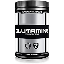 KAGED MUSCLE – L-Glutamine Powder – 500 Gram – 100 Servings Unflavored – Vegan – Support Muscle Recovery + Combat Catabolism + Post Workout Supplement – Banned-Substance Free