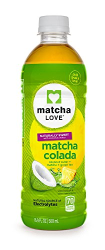 Matcha Love Matcha Colada, Japanese Matcha and Green Tea, 16.9 Ounce (Pack of 12), with Coconut Water and Pineapple, Slightly Sweet, No Added Sugar, No Artificial - Benefits Of Cold Water