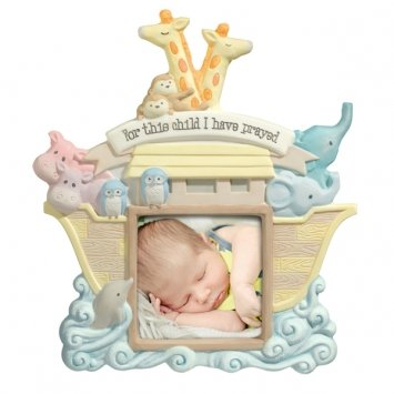 """Grasslands Road 3-Inch X 3-Inch Noah's Ark """"For This Child I Have Prayed"""" Photo Frame"""