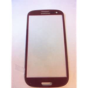 OEM Samsung Galaxy S3 III GT-i9300 ~ RED Front Glass (LCD Display and Touch Screen not included) ~ Mobile Phone Repair Part Replacement