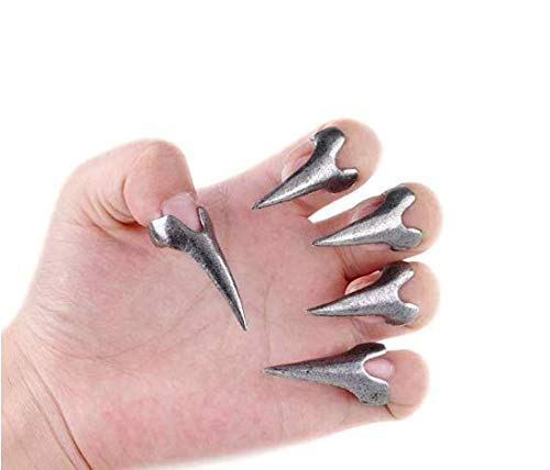 DUANMEINAD Wholesale 10pcs Hot Retro Punk Rock Gothic Talon Nail Finger Claw Spike Rings Nail Art ()