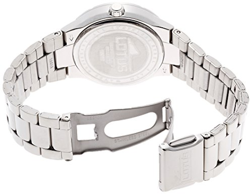 Amazon.com: Ladys Watch - Lotus - Stainless Steel Band - Day/Date - 15913/1: LOTUS: Watches