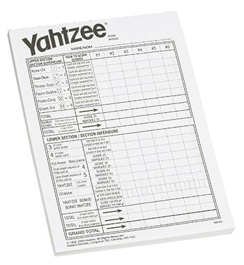 Yahtzee Score Pad -- Case of 7 for sale  Delivered anywhere in USA