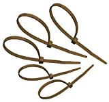 Tach-It 8'' x 40 Lb Tensile Strength Brown Colored Cable Tie (Pack of 1000)