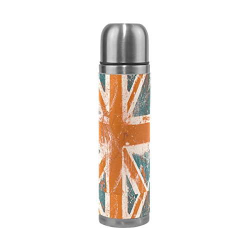 Cicily Union Jack Stainless Steel Water Bottle Insulated Vac
