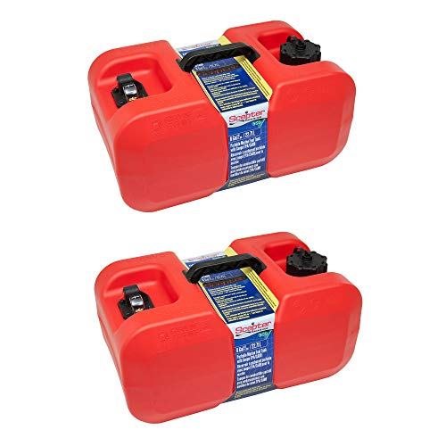 (Scepter EPA CARB Outdoor Marine Under The Seat Portable Fuel Container, 6 Gallon (2)