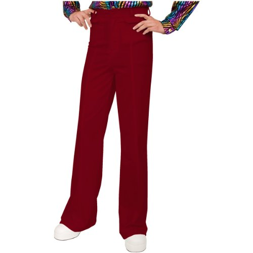 Charades Men's Disco Pants, red 30 ()