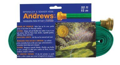 Andrews 50-Foot 2 Tube Sprinkler Hose 10-12348