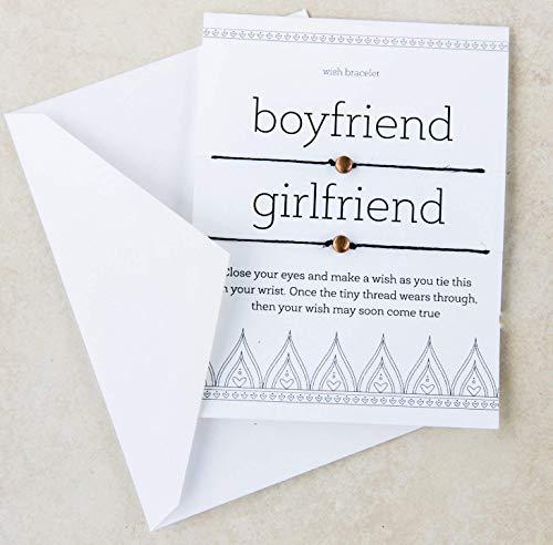 Boyfriend Girlfriend Matching Wish Bracelet Jewelry Anniversary Gift Set
