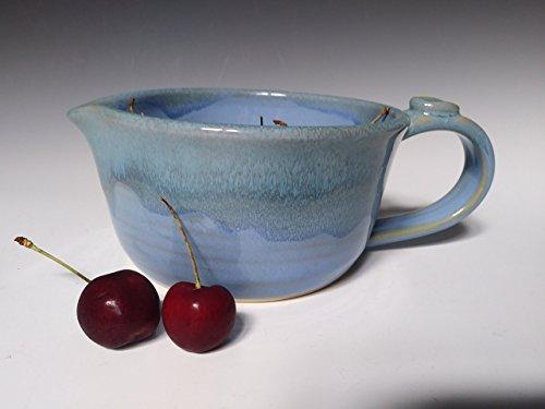 Batter Bowl ~ Handmade Stoneware Ceramic Pottery for Pancakes, Dip, Gravy, Sauce and more