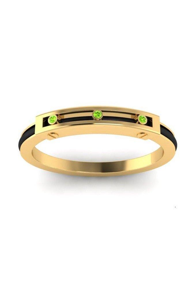 Hair Tie Bracelet Yellow Classic Bracelet - Green Peridot Crystal - Will and Way Hairtie Bracelets