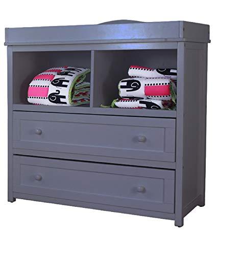 (AFG Baby Furniture Leila 2 Drawer Changer, Grey)