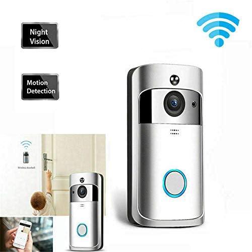 ビデオドアベル、WiFiスマートワイヤレスドアベル、ナイトビジョン、720P HDセキュリティホームカメラリアルタイムビデオ、電話アプリとの双方向通話