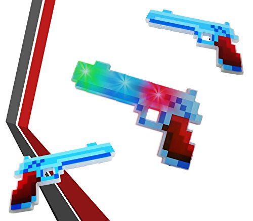 Play Kreative Light up Pixel Pistol - LED Light up Action Weapon Gun by Play Kreative