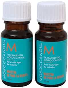 Moroccan Oil Treatment - The Original - For All Hair Types - .34 Oz Travel Size Bottle (Lot of 2)