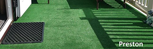 3m x 3m | Preston 6mm Pile Height Artificial Grass | Choose from 47 Sizes Natural & Realistic Looking Astro Garden Lawn…