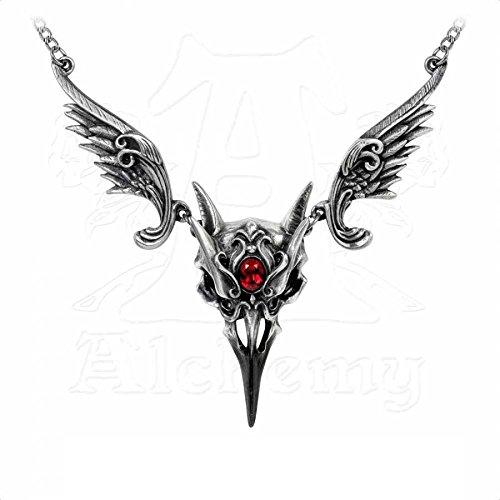 Alchemy Gothic Rabenschädel Collier Rabe Anhänger Raven Gotik Corvus Corax
