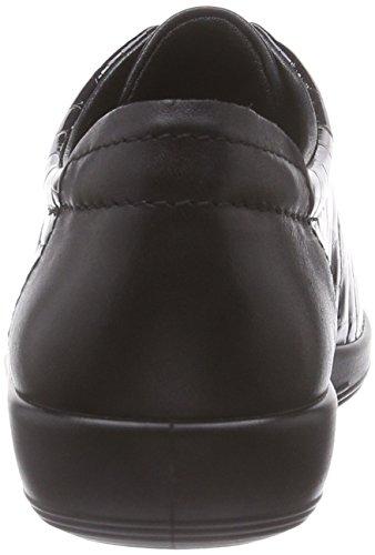 Ecco Damen Soft 2.0 Derby Schwarz (BLACK/BLACK 53859)