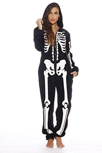6259-S Just Love Adult Onesie / Onesies / Pajamas,Skeleton - Skeleton Costume