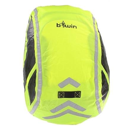 Mochila fluorescente de alta visibilidad, con bandas reflectantes, color amarillo