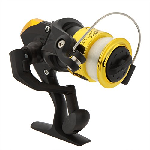 3BB Ball Bearings Left/Right Collapsible Handle Carp Fishing Wheel Spinning Reel 5.2:1 with Fishing Line Pesca - Yellow
