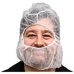 UltraSource Polypropylene Hair Net/Beard Cover, X-Large, Latex Free, White (Pack of 100)