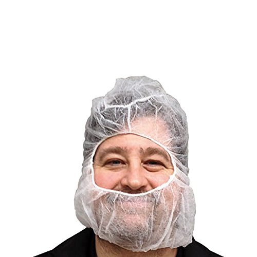 UltraSource Polypropylene Hair Net/Beard Cover, X-Large, Latex Free, White (Pack of ()