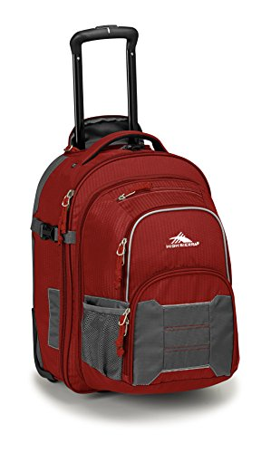 High Sierra Ultimate Access 2.0 Carry On Wheeled Backpack, Brick Red/Mercury/Silver by High Sierra